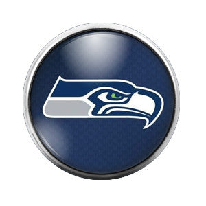 Seahawks - 18MM Glass Dome Candy Snap Charm GD0013