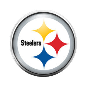Pittsburgh Steelers - 18MM Glass Dome Candy Snap Charm GD0022