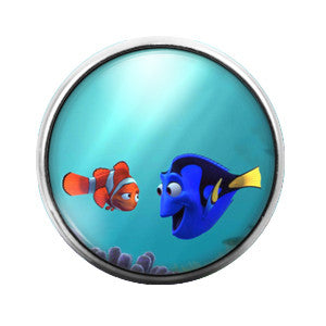 Dory Finding Nemo - 18MM Glass Dome Candy Snap Charm GD0207