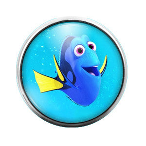 Dory Finding Nemo - 18MM Glass Dome Candy Snap Charm GD0208