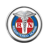 Registered Nurse- 18MM Glass Dome Candy Snap Charm GD0061