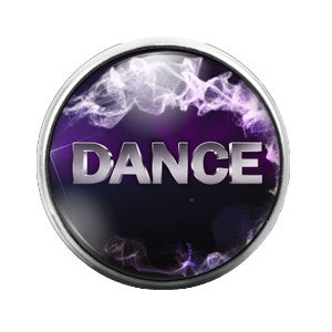 Dance Pink 18MM Glass Dome Candy Snap Charm GD0089