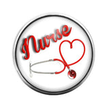 Nurse- 18MM Glass Dome Candy Snap Charm GD0059