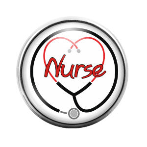 Nurse- 18MM Glass Dome Candy Snap Charm GD0058