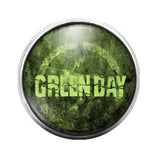 Green Day - 18MM Glass Dome Candy Snap Charm GD0334