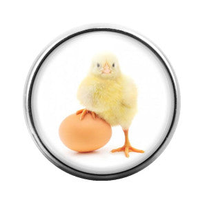 Baby Chicken Chick- 18MM Glass Dome Candy Snap Charm GD0066