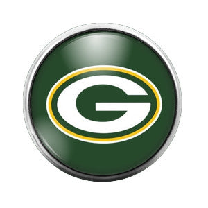 Greenbay Packers - 18MM Glass Dome Candy Snap Charm GD0011
