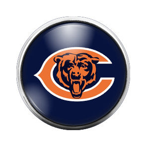 Chicago Bears - 18MM Glass Dome Candy Snap Charm GD0030