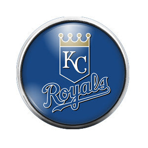 KC Royals- 18MM Glass Dome Candy Snap Charm GD0039