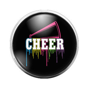 Cheer Rainbow - 18MM Glass Dome Candy Snap Charm GD0001