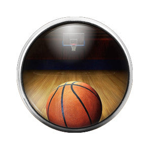 Basketball Court - 18MM Glass Dome Candy Snap Charm GD0002