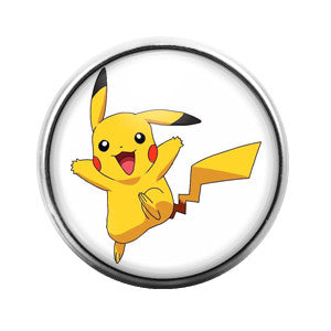 Pikachu- 18MM Glass Dome Candy Snap Charm GD0148