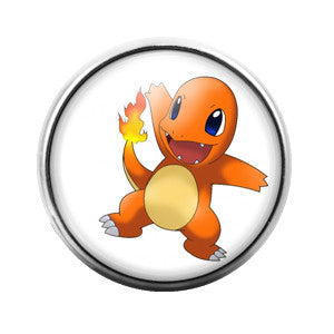 Charmander- 18MM Glass Dome Candy Snap Charm GD0152