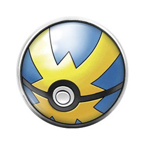 Pokeball- 18MM Glass Dome Candy Snap Charm GD0150