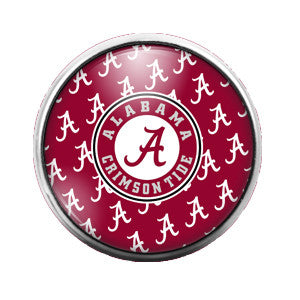 Alabama - 18MM Glass Dome Candy Snap Charm GD0025