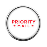 Priority US Mail Post Office- 18MM Glass Dome Candy Snap Charm GD0045