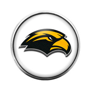 Southern Miss Eagles - 18MM Glass Dome Candy Snap Charm GD0017