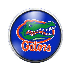 Florida Gators - 18MM Glass Dome Candy Snap Charm GD0021