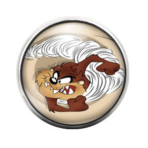 Tasmanian Devil - 18MM Glass Dome Candy Snap Charm GD0122