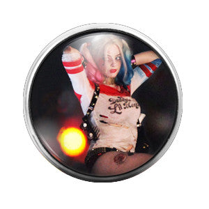 Harley Quinn Suicide Squad- 18MM Glass Dome Candy Snap Charm GD0140