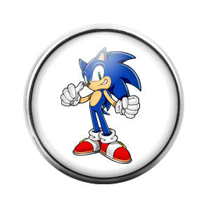 Sonic the Hedgehog- 18MM Glass Dome Candy Snap Charm GD0144