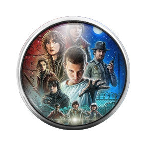 Stranger Things - 18MM Glass Dome Candy Snap Charm GD0211