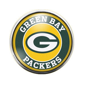 Greenbay Packers - 18MM Glass Dome Candy Snap Charm GD0285