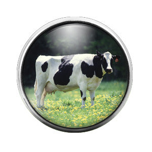 Cow - 18MM Glass Dome Candy Snap Charm GD0294