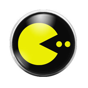 Pacman - 18MM Glass Dome Candy Snap Charm GD0290