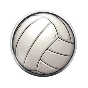 Volleyball - 18MM Glass Dome Candy Snap Charm GD0284