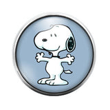Snoopy - 18MM Glass Dome Candy Snap Charm GD0291