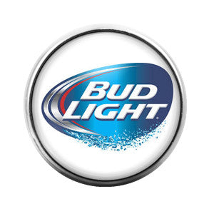 Budlight Beer- 18MM Glass Dome Candy Snap Charm GD0307