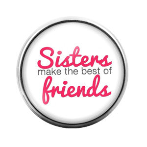 Sisters Friends- 18MM Glass Dome Candy Snap Charm GD0306