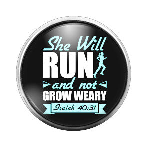 She Will Run - 18MM Glass Dome Candy Snap Charm GD0302