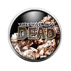 Walking Dead - 18MM Glass Dome Candy Snap Charm GD0311