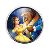 Beauty and the Beast - 18MM Glass Dome Candy Snap Charm GD0282