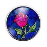 Beauty and the Beast - 18MM Glass Dome Candy Snap Charm GD0313
