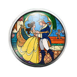 Beauty and the Beast - 18MM Glass Dome Candy Snap Charm GD0314