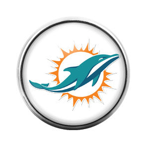 Miami Dolphins - 18MM Glass Dome Candy Snap Charm GD0312