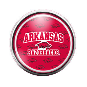 Arkansas Razorbacks - 18MM Glass Dome Candy Snap Charm GD0257