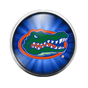 Florida Gators - 18MM Glass Dome Candy Snap Charm GD0020