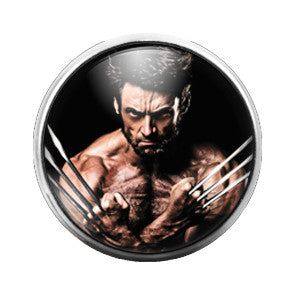 Wolverine - 18MM Glass Dome Candy Snap Charm GD0168