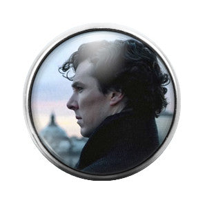 Sherlock Holmes - 18MM Glass Dome Candy Snap Charm GD0173