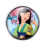 Mulan - 18MM Glass Dome Candy Snap Charm GD0329