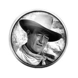 John Wayne - 18MM Glass Dome Candy Snap Charm GD0326