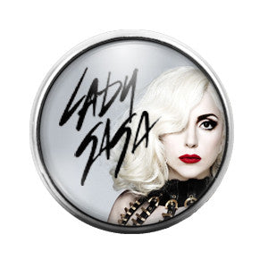 Lady Gaga- 18MM Glass Dome Candy Snap Charm GD0363