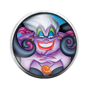 The Little Mermaid Ursula - 18MM Glass Dome Candy Snap Charm GD0186