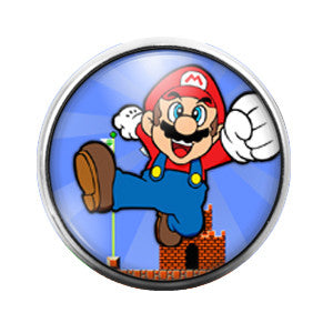 Mario Brothers - 18MM Glass Dome Candy Snap Charm GD0187