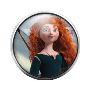 Merida - 18MM Glass Dome Candy Snap Charm GD0327