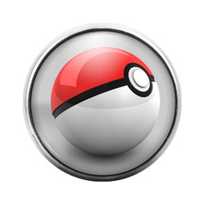 Pokeball- 18MM Glass Dome Candy Snap Charm GD0147